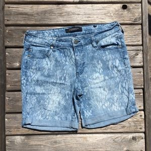 Acid Wash Liverpool Bermuda Jean Shorts